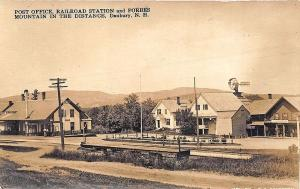 Danbury NH Railroad Station Train Depot RPPC Real Photo Postcard