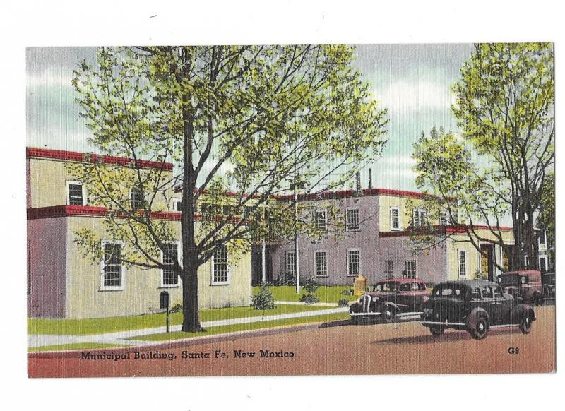 Municipal Building Police & Fire Santa Fe New Mexico 1930s Cars