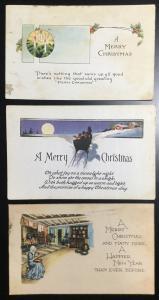 Postcard (3) Christmas 12/1922 LB