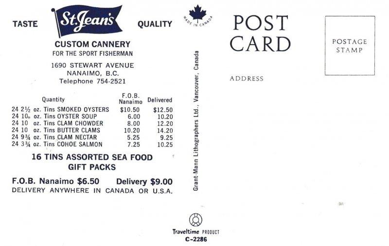NANAIMO , B.C. , Canada , 1950-60s ; St Jean's Custom Cannery