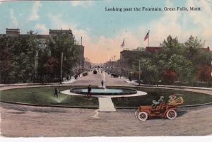 GREAT FALLS , Montana, 1913 ; Looking past the Fountain