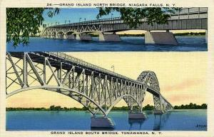 Grand Island North Bridge Niagara Falls South Bridge Tonawanda NY New York Linen