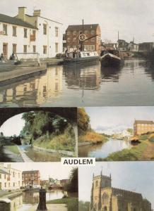 Audlem Canal Wharf Shropshire 2x Postcard s