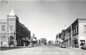 Real Photo - Main Street Lake Miles, Iowa, USA Postcard Post Card Lake Miles,...