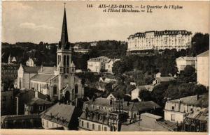 CPA AIX-les-BAINS - Les Quartier de l'Église et l'Hotel Mirabeau (352057)