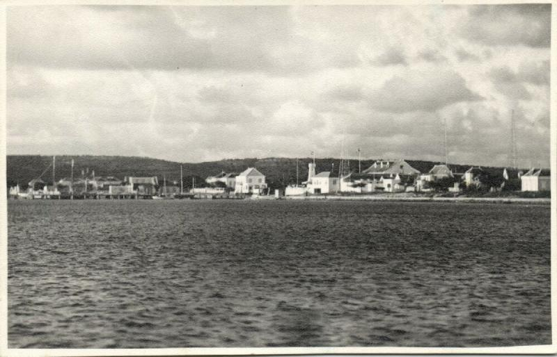 netherlands antilles, BONAIRE, Panorama from the Sea (1950s) Foto Heit RPPC