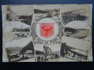 Isle of Man 8 IMAGE MULTIVIEW c1909 RP Postcard by Raphael Tuck 5169