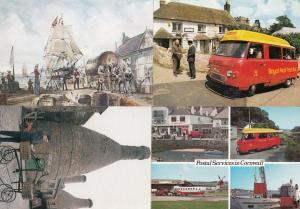 Royal Mail Bicycle Cornwall Post Van Truro 4x FDC Postcard s
