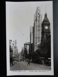 Australia: MELBOURNE Collins Street Old RP PC