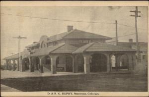 Montrose CO D&RG RR Train Station Depot c1910 Postcard
