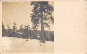 Missoula Montana~Higgins Block Hemmed-In By Deep Snow~Postcard RPPC c1910