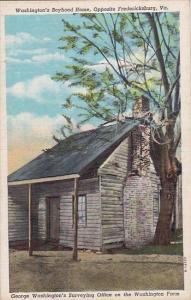 Virginia Opposite Fredericksburg Washington's Boyhood Home 1949