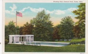 Oklahoma Tulsa Wading Pool In Central Park 1949 Curteich