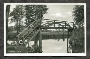 5214 - GERMANY Wotschofska im Spreewald. Bridge. Real Photo Postcard
