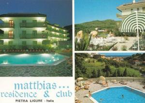 Matthias Residence Swmming Pool Club Pietra Ligure Portugal 1980s Postcard