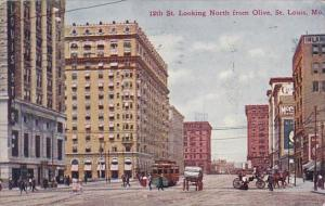 12th Street Looking North From Olive Saint Louis Missouri 1909