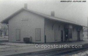 Wabash Depot, IN, USA Kodak Real Photo Paper Train Railroad Station Depot Unu...