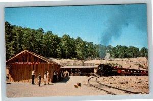 Cumberland Falls Kentucky, Tombstone Junction Train Steam Engine Chrome Postcard