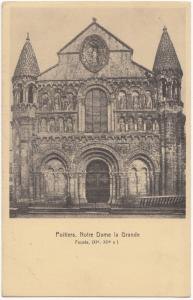France, Poitiers, Notre Dame la Grande, unused Postcard