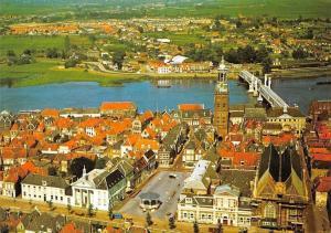 Netherlands Kampen met IJselbrug in Vogelvlucht Bridge Pont Panorama