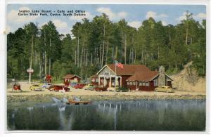 Legion Lake Resort Cafe Office Custer State Park South Dakota postcard
