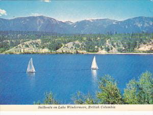 Canada Sailboats On Lake Windermere British Columbia