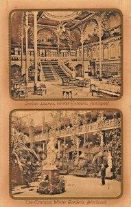 BLACKPOOL LANCASHIRE ENGLAND~WINTER GARDENS + INDIAN LOUNGE-1912  PHOTO POSTCARD
