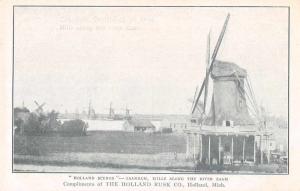 Zaandam Mills Along the River Zaam Holland Rusk Co Antique Postcard J68563