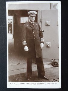 Military Naval ADMIRAL LORD CHARLES BERESFORD c1906 RP Postcard by Rotary