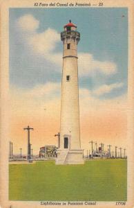 Panama Canal Light House Street View Antique Postcard K7876441