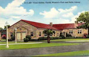 Florida Coral Gables Woman's Club and Public Library 1955 Curteich