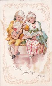 Young Victorian Couple With Fondest Love