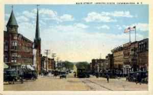 Main Street, Canadaigua, New York, NY, USA Railroad Train Depot Postcard Post...