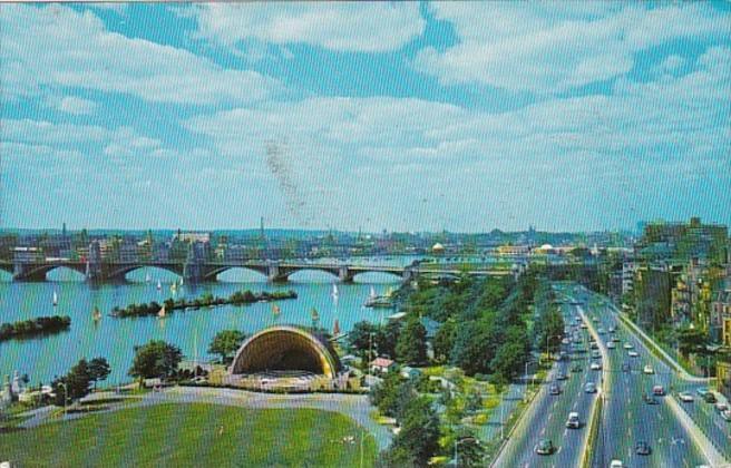 Massachusetts Boston The Hatch Music Shell On Charles River Basin