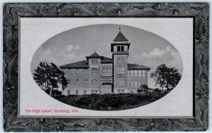ROSEBURG, Oregon  OR    HIGH SCHOOL  Embossed Border PNC Glosso Postcard