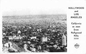 Birdseye California Hollywood Los Angeles RPPC Photo Postcard Frasher 9694