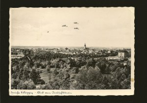 Germany Postmarked August 27 1939 Aircraft Flying over a Town Hans Gursky RPPC