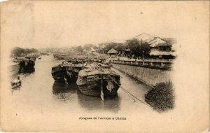 CPA AK INDOCHINA Jonques de l'Arroyo a Cholon VIETNAM (957544)