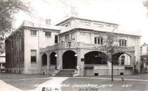 C56/ Coldwater Michigan Mi Real Photo RPPC Postcard c40s Masonic Temple Building