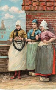 Dutch Art Postcard Volendam Painting 01.49