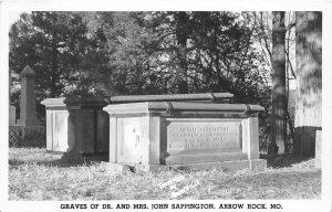 F52/ Arrow Rock Missouri RPPC Postcard c1950s Sappington Graves