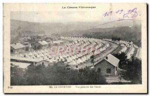 Old Postcard La Courtine Vue Generale Army Tents