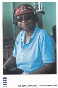 Donna Symmonds 1999 Radio Test Match Commentator Rare Cricket Postcard