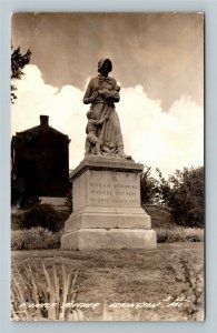 View Of Pioneer Mother Memorial, Lexington Missouri RPPC Postcard
