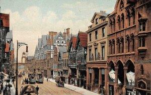 Eastgate Street Scene Grosvenor Hotel Chester, UK England Postcard ca 1910s