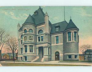 Divided-Back BUILDING SCENE Lowell Massachusetts MA H6873