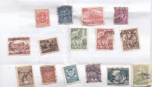Poland Polish 15x Small Stamp Collection Old Bundle