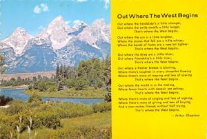 Out Where the West Begins - Arthur Chapman