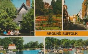Around Suffolk Boat Rowing Boats Yacht 1970s Sailing Postcard