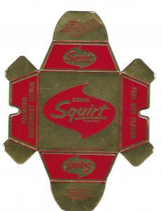 Drink Squirt Premium Southwest Citrus Drink Foil Coated Folding Ashtray 1962